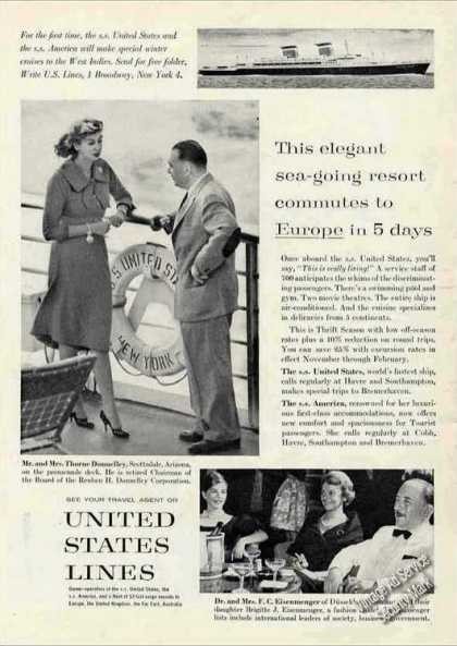 """Ss United States Photos """"Sea-going Resort"""" (1961)"""