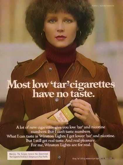 Winston – Women of Winston Cigarette – Most have no taste. (1976)