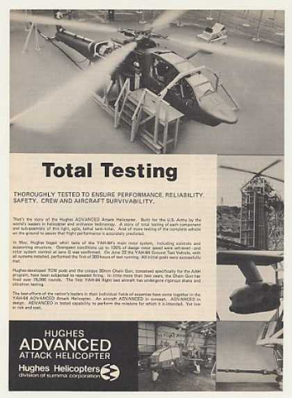Hughes YAH-64 Advanced Attack Helicopter Test (1975)