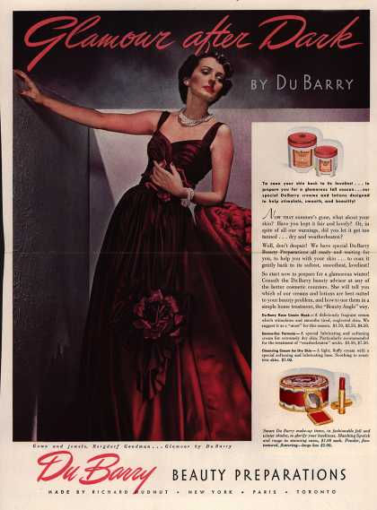 Richard Hudnut's DuBarry cream – Glamour after Dark (1939)
