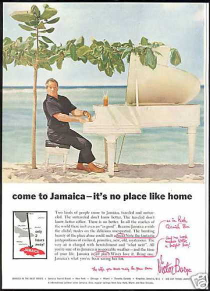 Jamaica Travel Victor Borge Piano Vintage (1959)