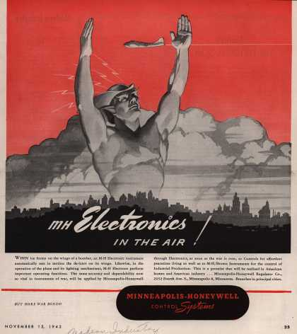 Minneapolis-Honeywell Regulator Company's Control Systems – MH Electronics IN THE AIR (1943)