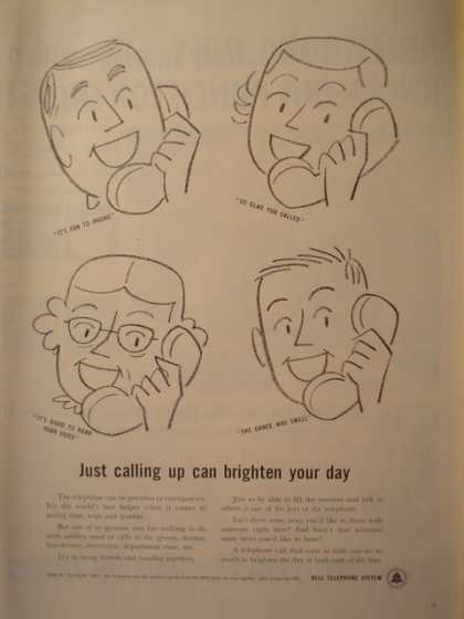 Bell Telephone Calling to Brighten your day (1956)