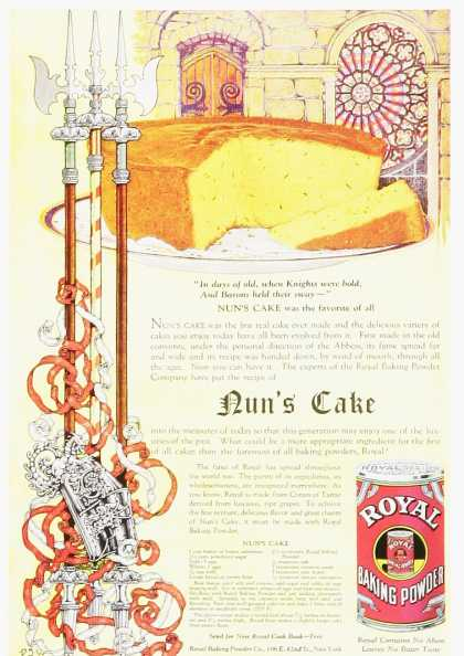 Nun's Cake Royal Baking Powder