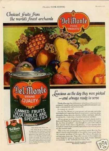 Del Monte Canned Fruits Color (1921)