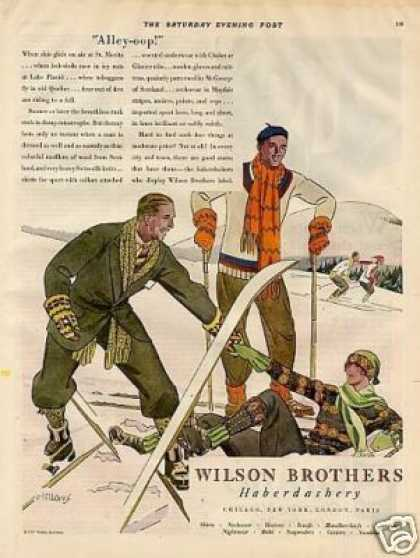 Wilson Brothers Clothes Ad Fellows Art (1927)