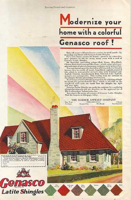 Genasco's Latite Shingles (1930)