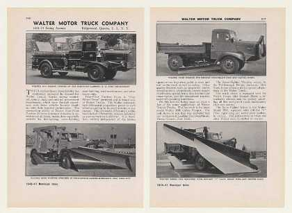 Walter Fire Truck Snow Fighter Road Scraper 2-P (1940)