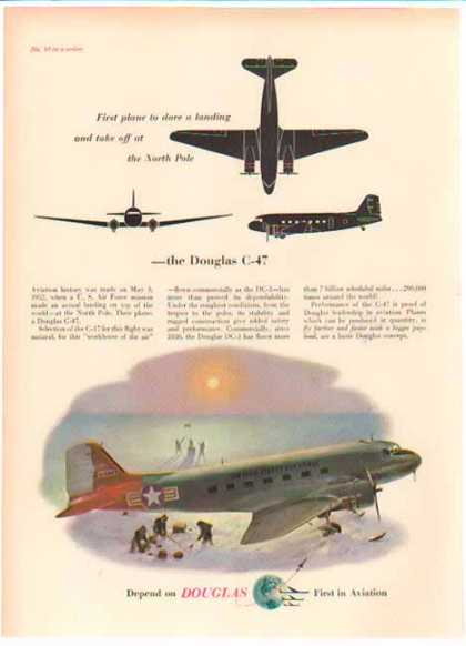 Douglas Aircraft – C47 Plane – North Pole – Sold (1952)