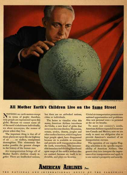 American Airline's Flagship airflights – All Mother Earth's Children Live on the Same Street (1946)