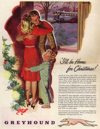 "Greyhound – ""I'll be Home for Christmas!"" (1945)"