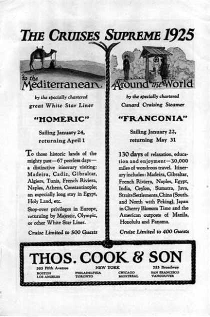 Thomas Cook & Son Cruise -1925 Supreme Cruise (1924)