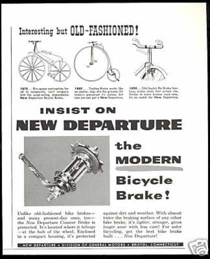 New Departure Bike Bicycle Brake Vintage (1954)
