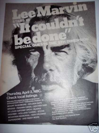 Nbc Tv Special It Couldn&#8217;t Be Done Lee Marvin (1970)