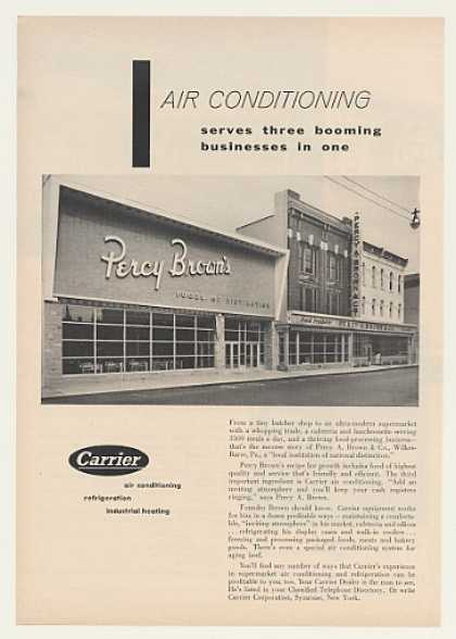 Percy Brown's Foods Wilkes-Barre Pa Carrier A/C (1954)