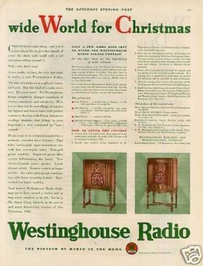 Westinghouse Radio Color Ad 2 Page (1930)