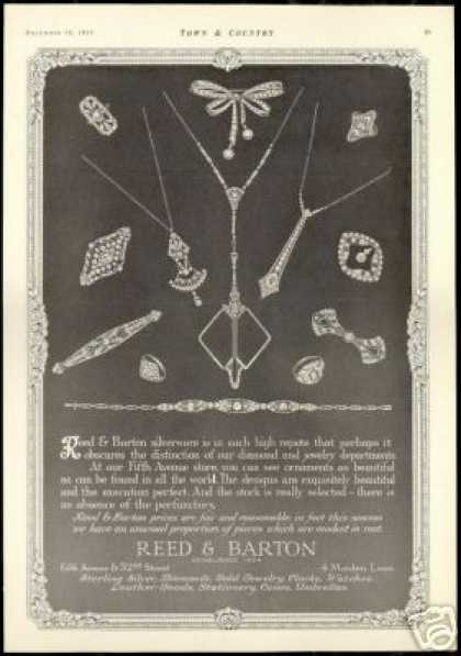 Reed & Barton Diamond Jewelry Vintage (1915)