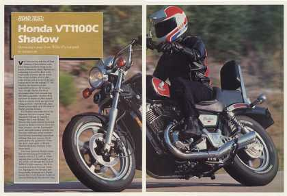 Honda VT1100C Shadow Motorcycle 7-Page Road Test (1985)