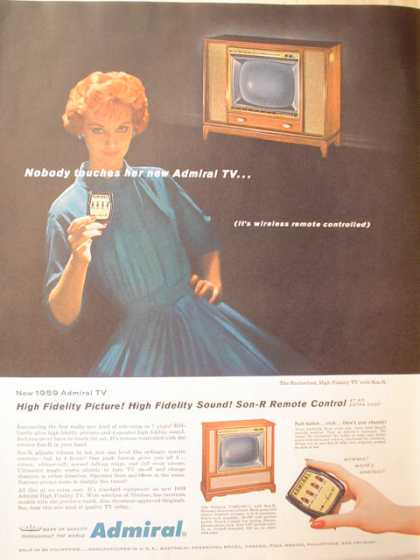 Admiral TV with Wireless remote control (1958)