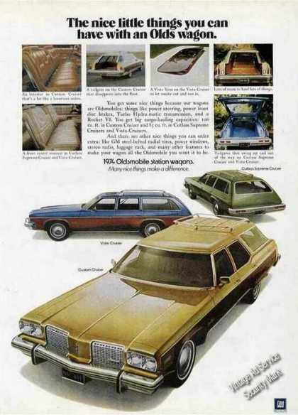 Oldsmobile Station Wagons Cars (1974)