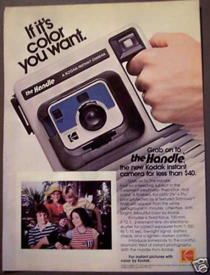 The Handle Instant Camera By Kodak (1977)