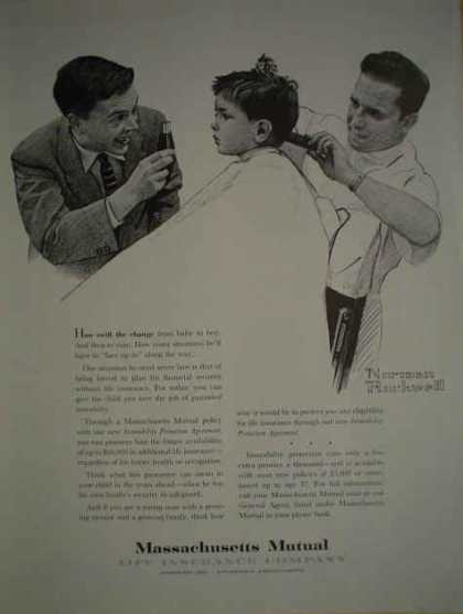 Massachusetts Mutual Insurance Norman Rockwell Art (1959)