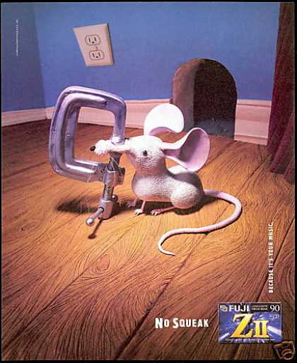 Mouse Clamp No Squeak Fuji Audio Cassette (1996)