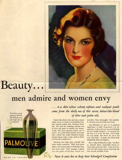 Palmolive Company's Palmolive Soap – Beauty... men admire and women envy (1933)
