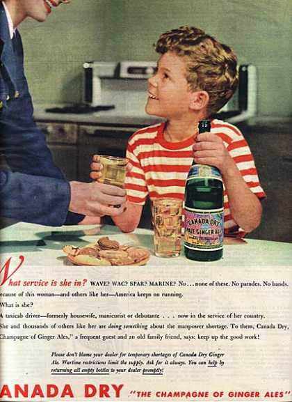 Canada Dry's Ginger Ale (1944)