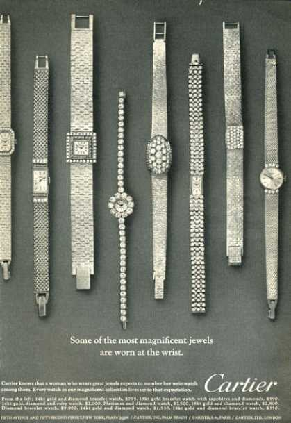 Cartier Women Gold Watches Art (1966)