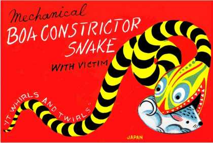 Boa Constrictor Snake with Victim