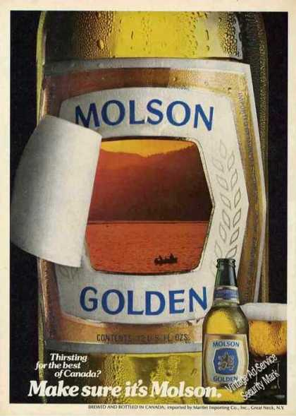 Molson Beer Ad Make Sure It's Molson (1980)