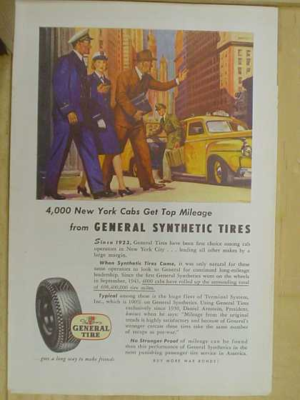 The General Tire Co. 4,000 New York Cabs get top mileage (1941)