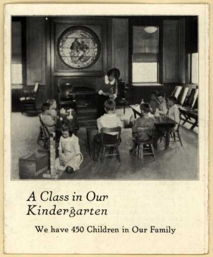 New England Home for Little Wanderer's education – A Class in Our Kindergarten