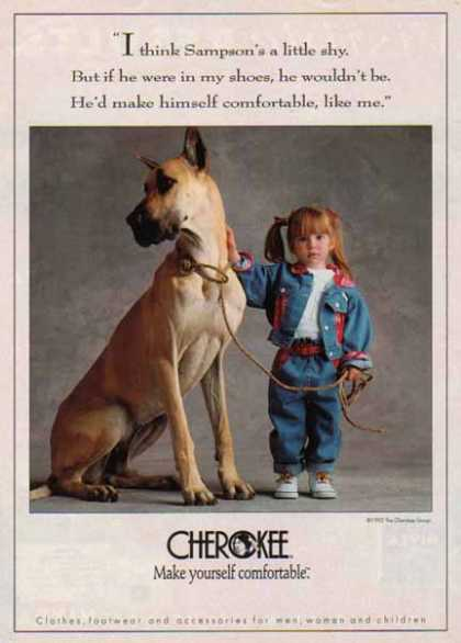 Cherokee Clothes &#8211; Great Dane and Little Girl &#8211; Sold (1992)