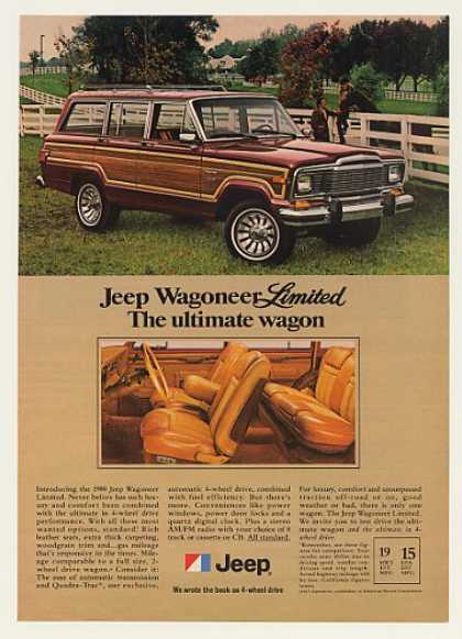 Jeep Wagoneer Limited Horse Photo (1980)