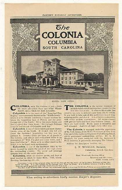 The Colonia Hotel Columbia South Carolina (1908)