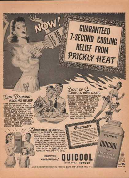 Cooling Refreshing Quicool Powder (1946)