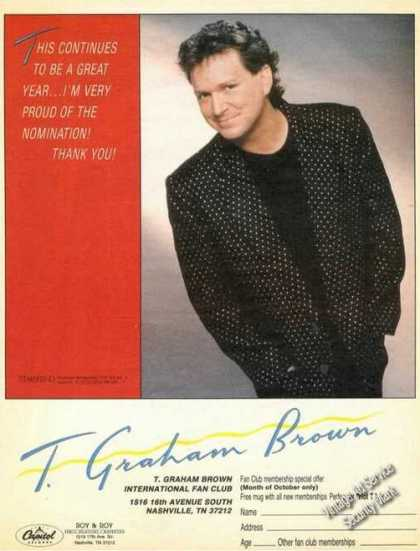 T Graham Brown Picture Music Promo (1987)