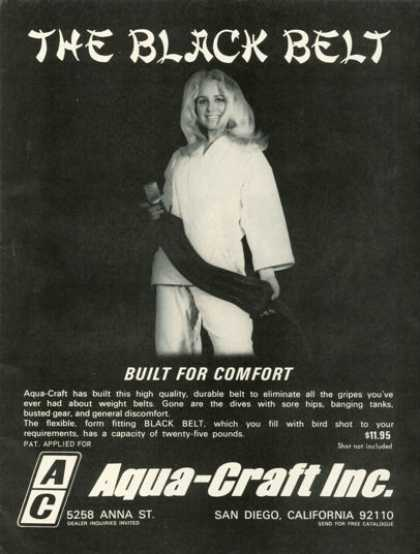 Aqua Craft Weight Black Belt (1971)