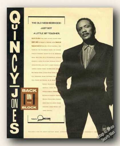Quincy Jones Photo Album Promo Print Promo (1989)