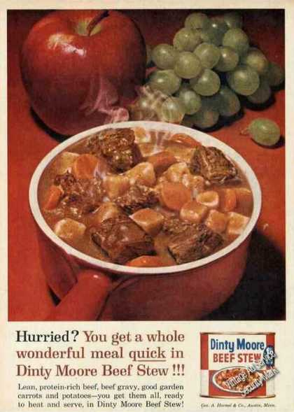 Dinty Moore Beef Stew Nice Photo (1961)