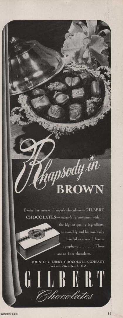 Gilbert Chocolates In a Box (1947)