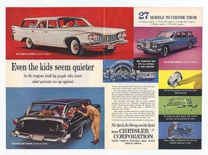 Chrysler Plymouth Dodge Station Wagons Dbl-Page (1960)