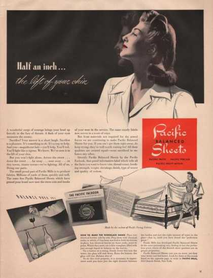 Pacific Balanced Sheets for the Bed Print (1942)