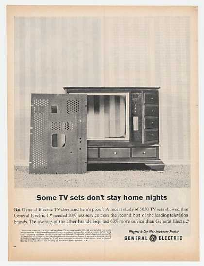 GE Some TV Sets Don't Stay Home Nights (1961)