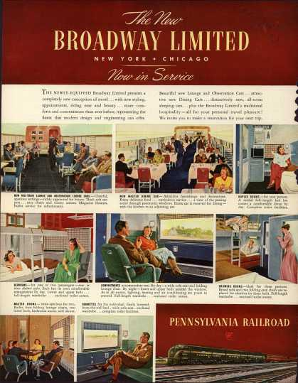 Pennsylvania Railroad's Broadway Limited – The New Broadway Limited (1949)