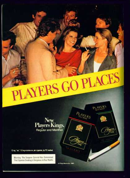 Pretty Women In Players Kings Cigarettes (1983)
