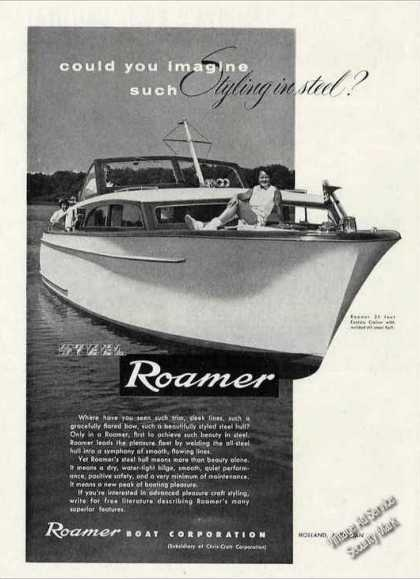 Roamer 35' Express Cruiser Steel Hull Boat (1955)