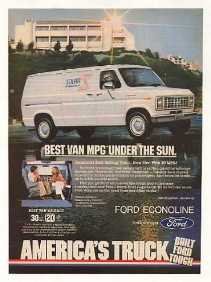 Ford Econoline Best Van MPG Under the Sun (1982)